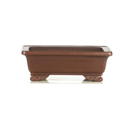 Maceta shohin rectangular Yixing 18 x 13.8 x 6 cm