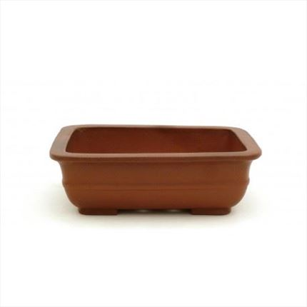 Maceta shohin rectangular Yixing 18 x 15 x 5.5 cm